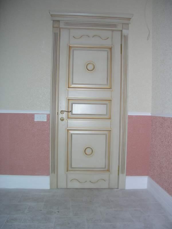 Деревянная дверь под покраску Арт. П06