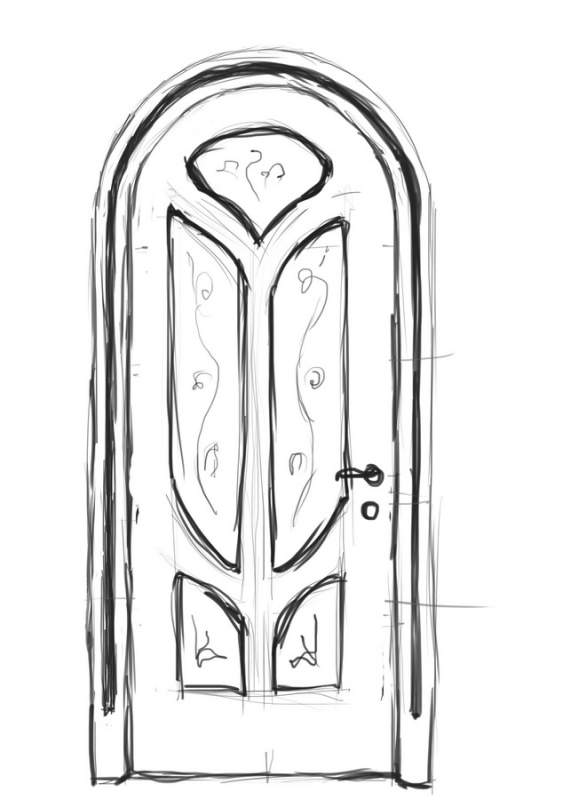 Дверь межкомнатная деревянная 08
