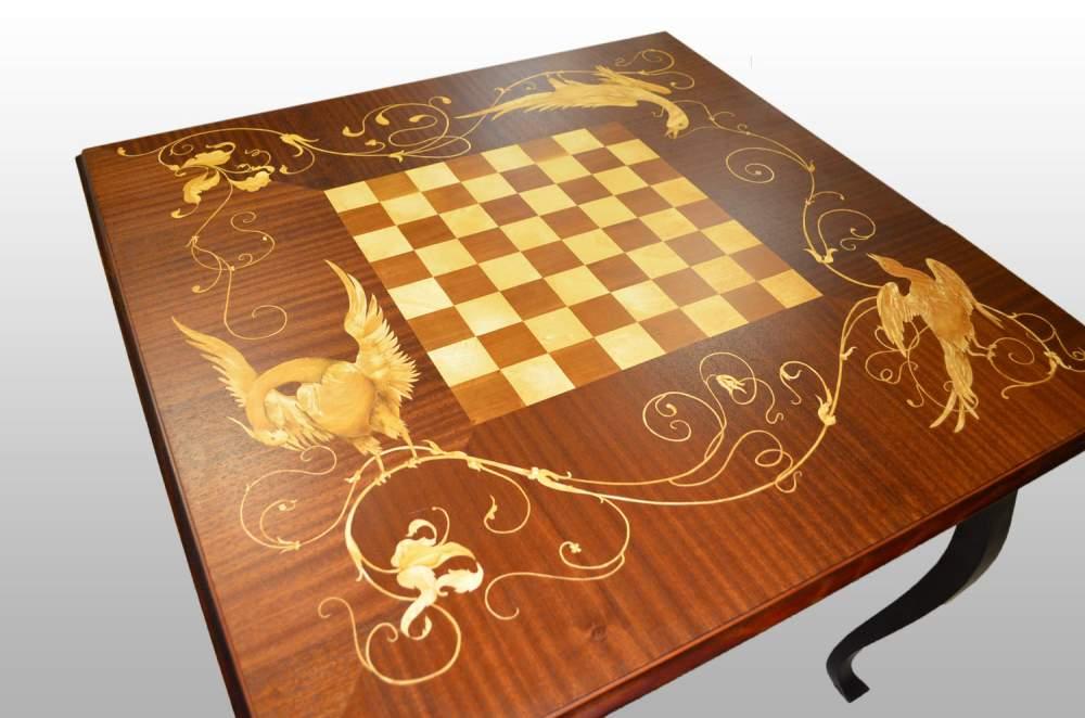 Стол шахматный Венценосные журавли