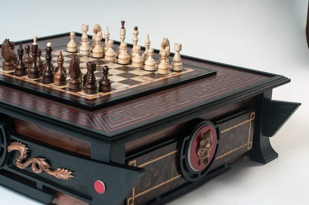 Шахматная доска в японском стиле Двойное счастье