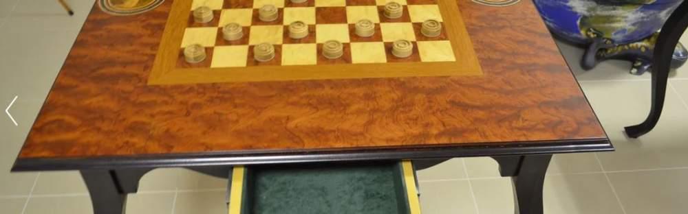 Стол шахматный Медведь и бык
