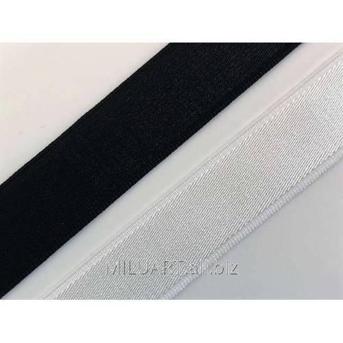 Бретелечная резинка эластичная, плоская Белая Е0001-15