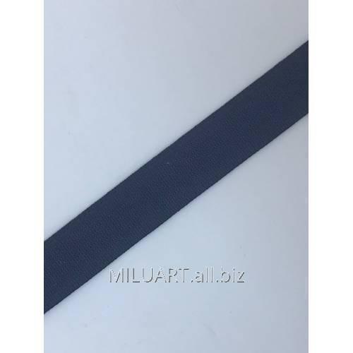 Бретелечная резинка эластичная, плоская Серая 05-20