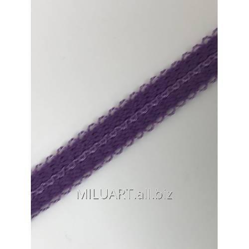 Бретелечная резинка эластичная, плоская Фиолетовая 49-10
