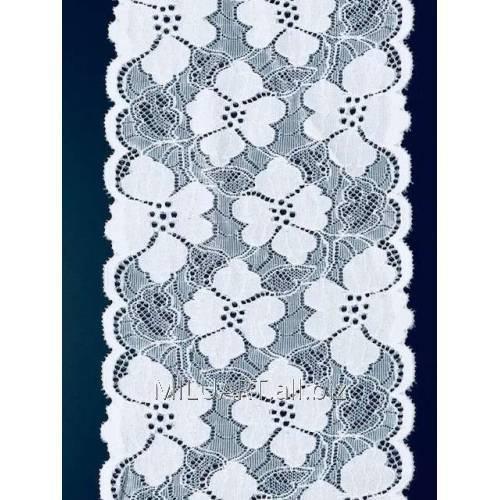 Кружево эластичное белое 167-17