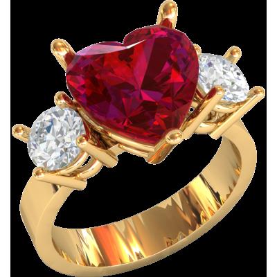 дамы, картинка обручального кольца с сердцем и камнем фото