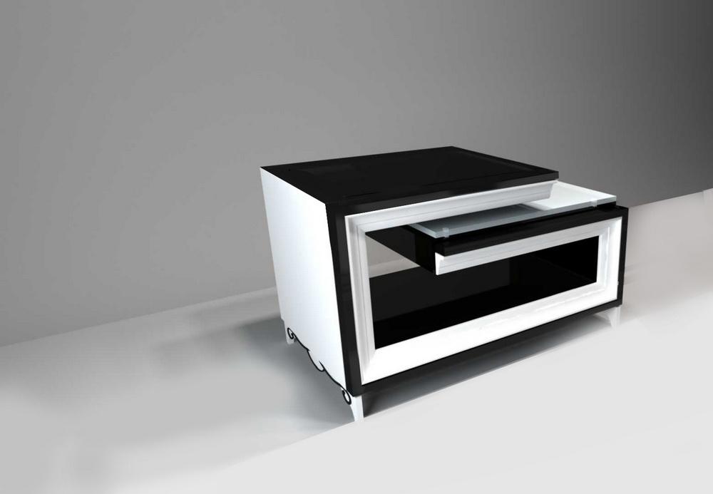 Стол журнальный (без выдвижных стеклянных столешниц) 1200 х 700 х 700 арт. GR-111
