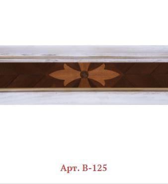 Плинтус деревянный мозаичный Арт. B-125