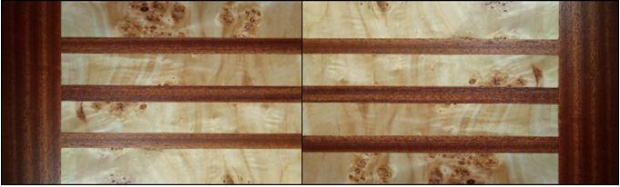 Шпон красное дерево (сапели)/каповый тополь Арт. 014 Эллада