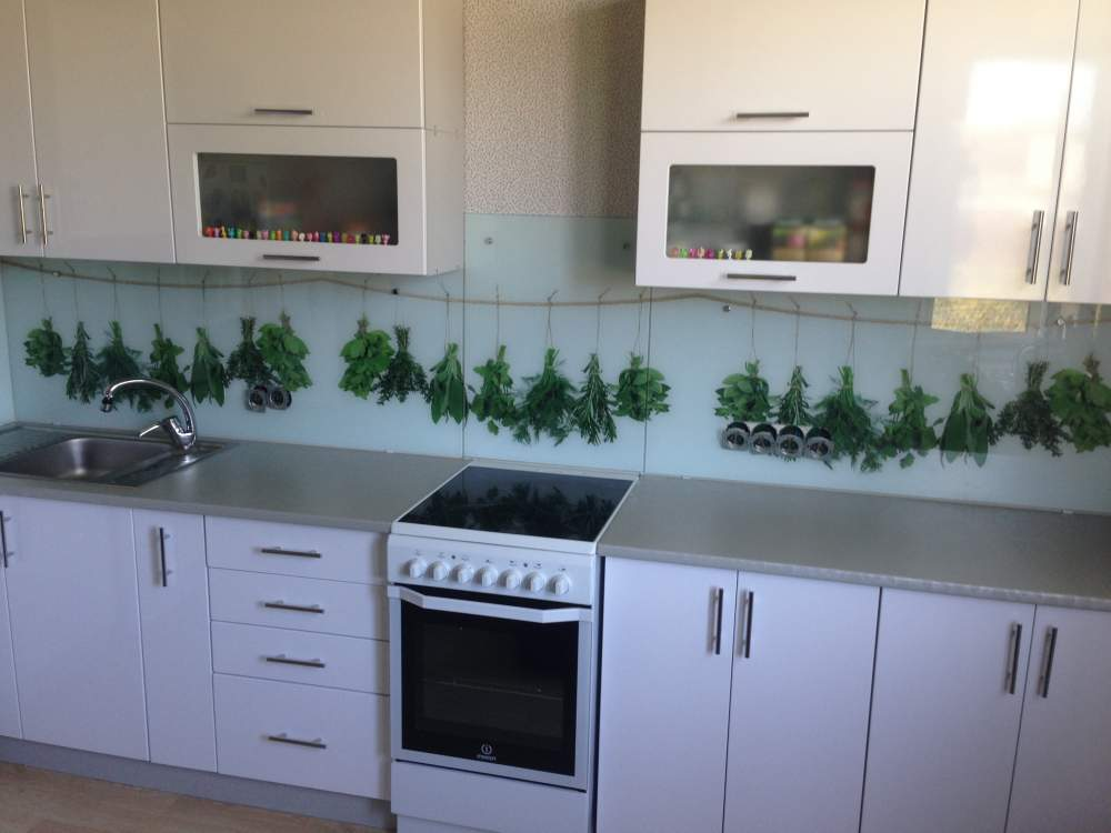 Кухонный фартук Зелень