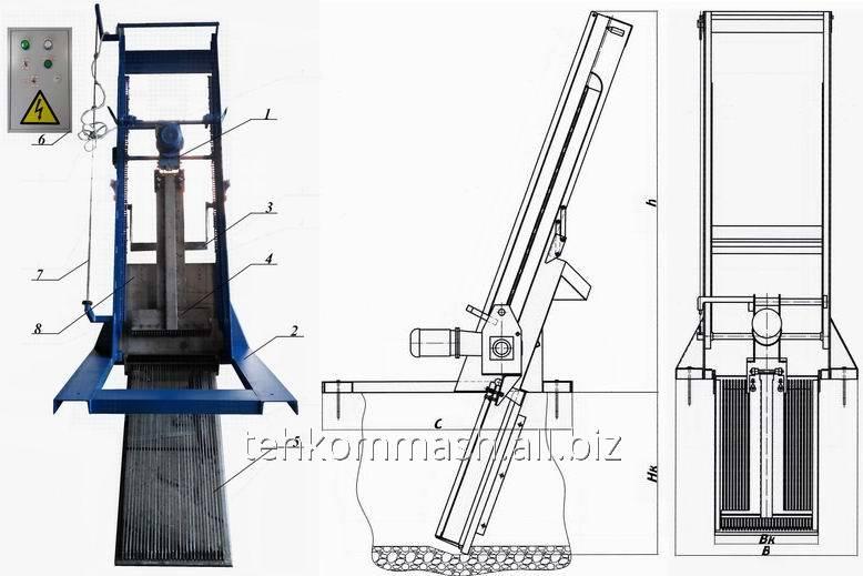 Buy Lattice mechanical rake reykovy RGR-500 type (channel 600х900)
