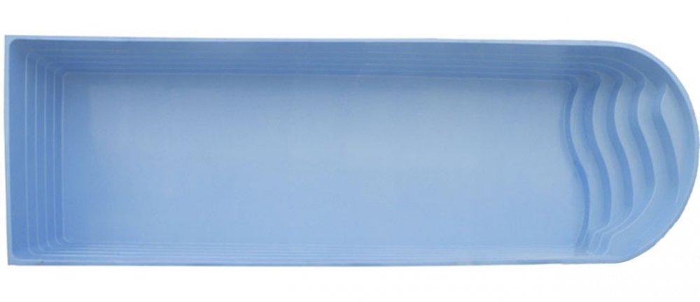 Fiberglass fiberglass pool Versailles 8 x 3.8 x 1.7 m