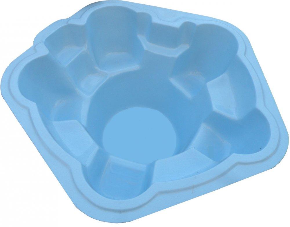 Стеклопластиковый стекловолоконный бассейн Ромашка Диаметр - 2,5м / Глубина - 1,1м