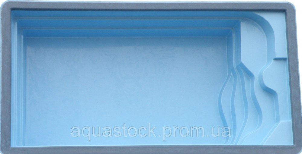 Стеклопластиковый стекловолоконный бассейн Атлантик 6,5 х 3,5 х 1,5м