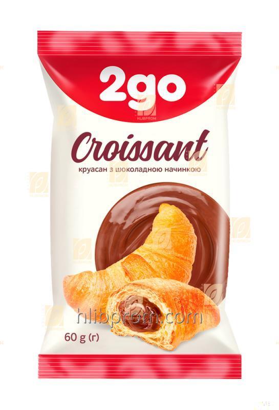Купить Круассан 2go с шоколадной начинкой 0,06 кг