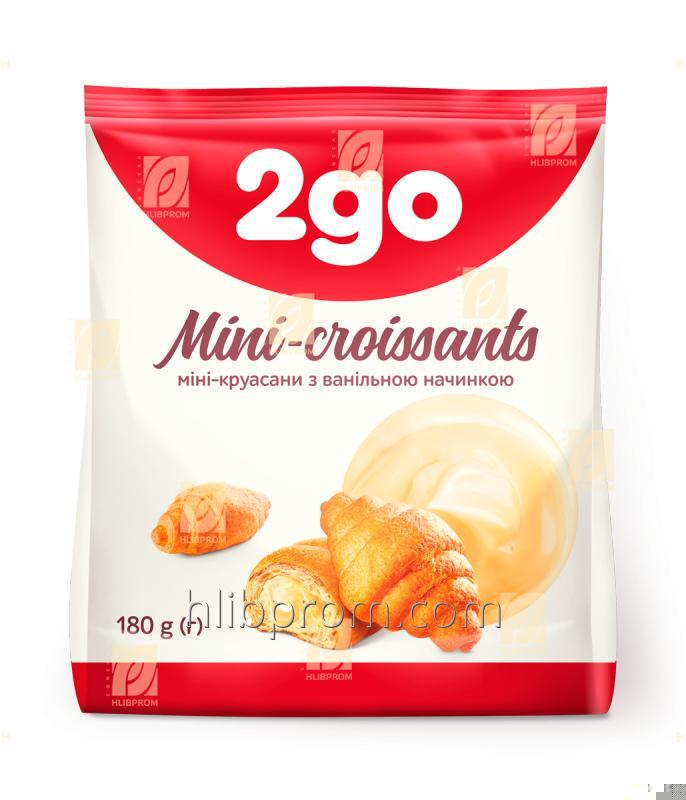 Buy Croissant Mini 2go with vanilla filling 0.18 kg
