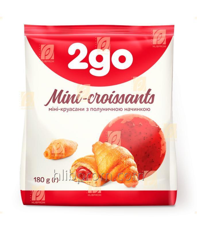 Круассан Мини 2go с клубничной начинкой 0,18 кг