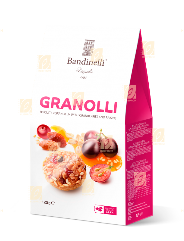 Buy Cookies «Granolli» with cranberries and raisins, 0.125 kg