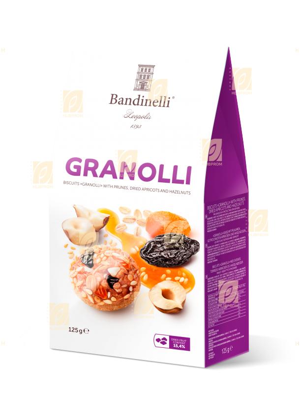 Печенье «Granolli» с курагой черносливом и фундуком 0,125 кг