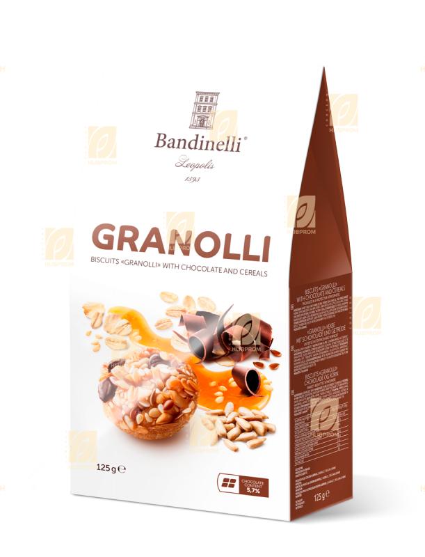Cookies «Granolli» с шоколад и зърнени храни 0,125 кг