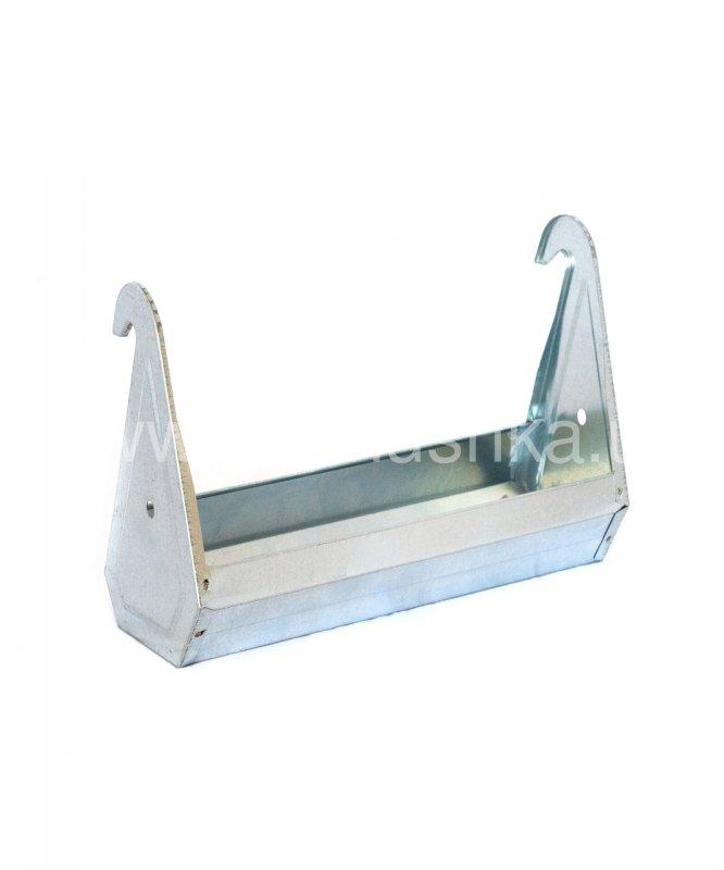 Поилка-кормушка оцинкованная сталь для клеток 30 см, 539324059