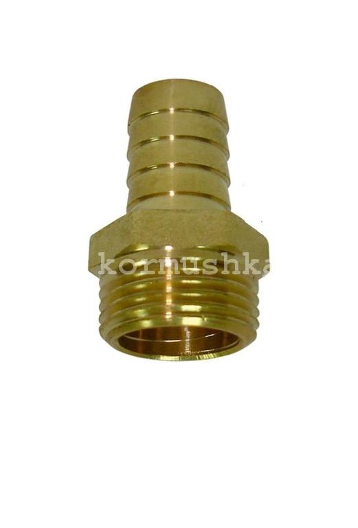 Штуцер 10 мм с наружной резьбой 1/2 латунный, 540047822