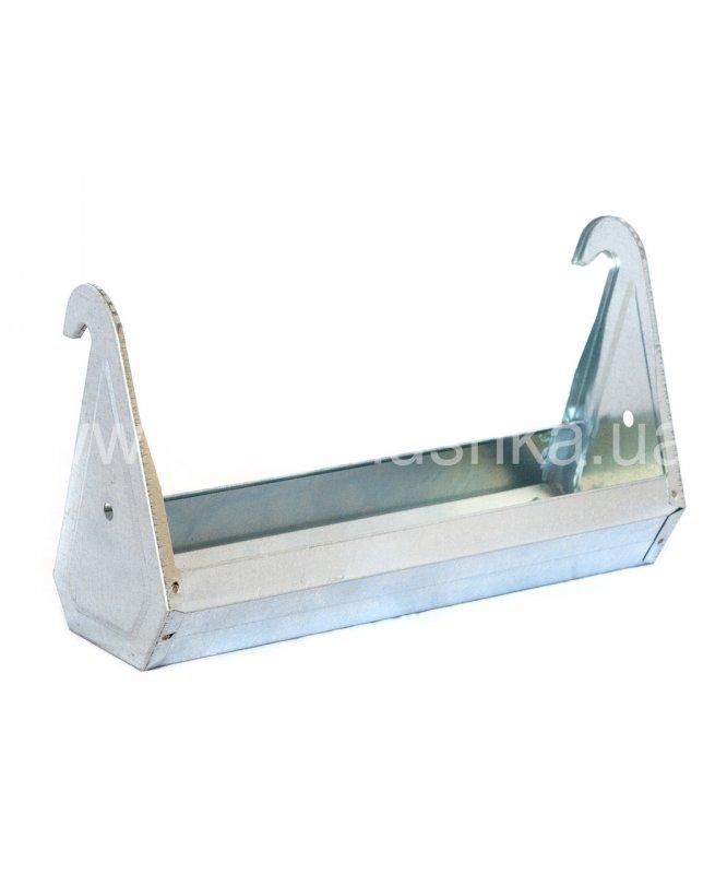 Поилка-кормушка оцинкованная сталь для клеток 40 см, 540072642