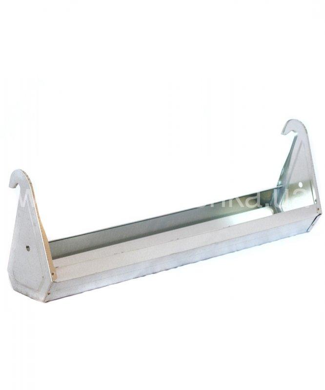 Поилка-кормушка оцинкованная сталь для клеток 60 см, 540072771