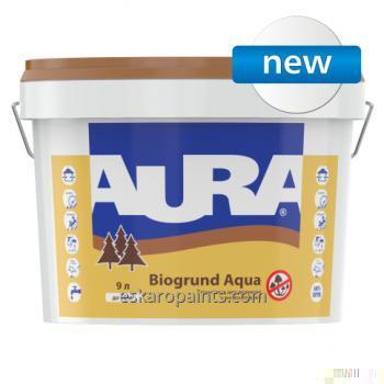 Buy Primer for wood with antiseptics of Aura Biogrund Aqua 9 of l