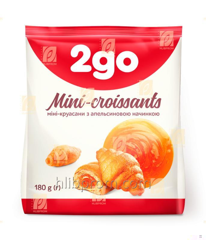 """Купить Круассан Мини """"2go"""" с апельсиновой начинкой 0,18 кг"""