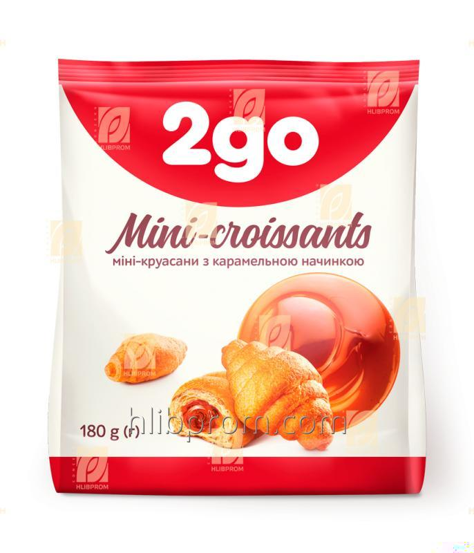 Купить Круассан Мини 2go с карамельной начинкой 0,18 кг
