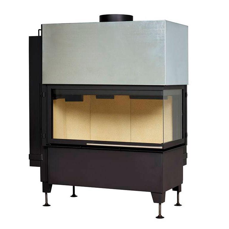 Buy Fireplace insert 550/20 Radiante/45-89.44 H, black frame, right (Hark)