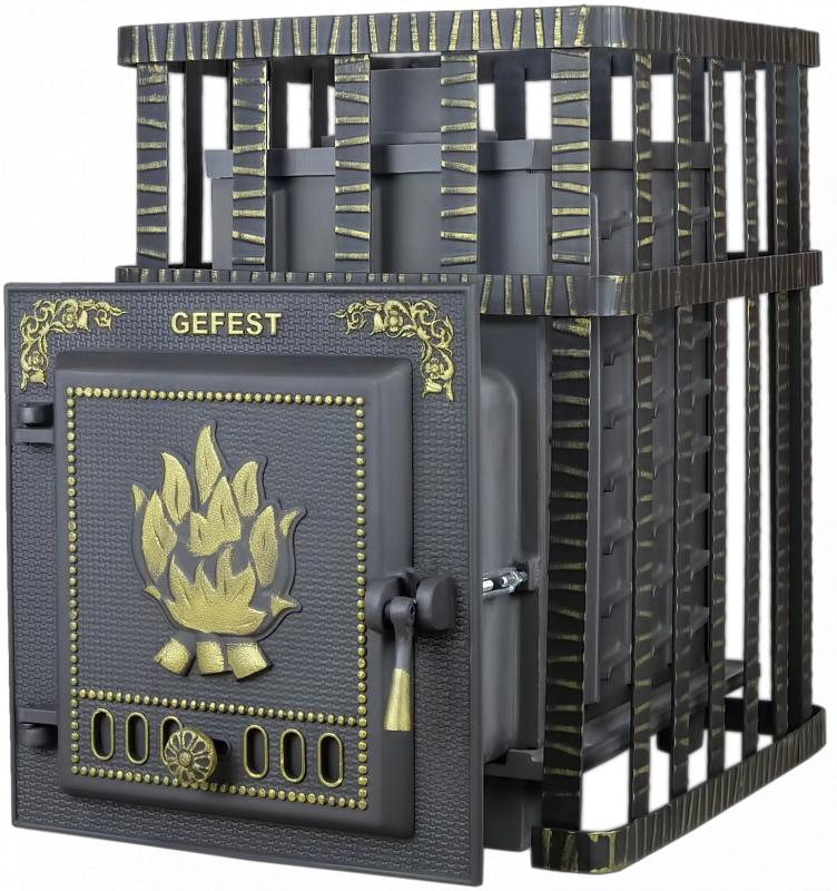 Дровяная печь-камин для бани Гефест ПБ-02С