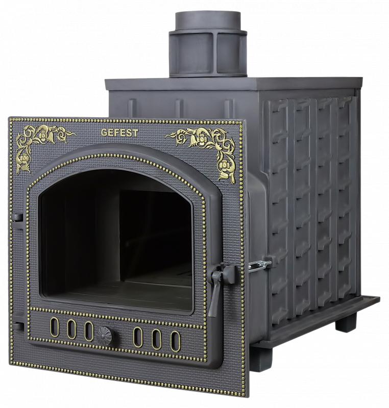 Дровяная печь-камин для бани Гефест ПБ-02М