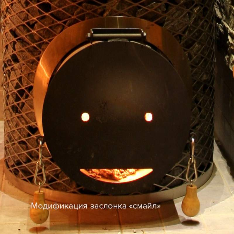 Печь для сауны Original IKI со стальной дверцей смайл