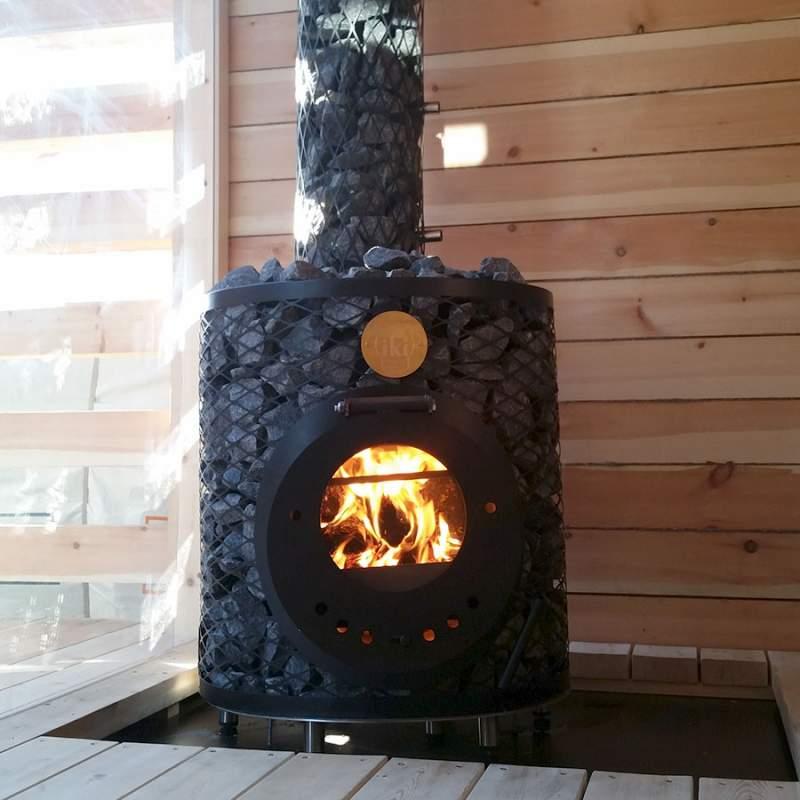 Печь для сауны Original IKI Plus со стеклянной дверцей