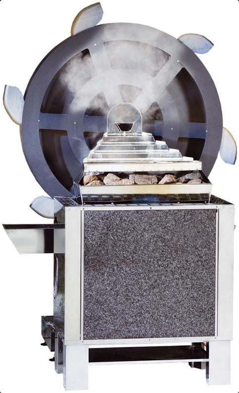 Электрическая печь для бани с парогенератором EOS 34.GM