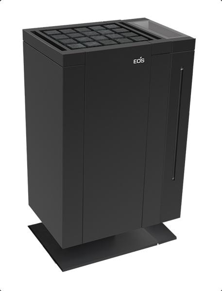 Электрическая печь для бани EOS Mythos Antrazit Vapor S-Line c парогенератором