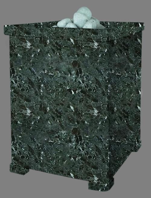 Облицовка для чугунной банной печи - ПБ-03-ЗК Оптима 1 Комбинированный камень