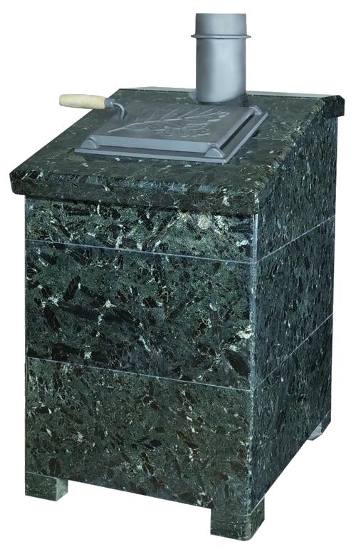 Облицовка для чугунной банной печи - ПБ-04-3К Президент серпентинит