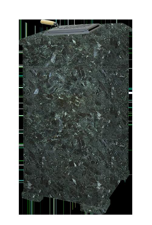 Облицовка для чугунной банной печи - ПБ-02/02-ЗК Президент 1260/50 Комбинированный камень