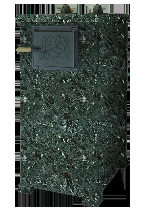 Облицовка для чугунной банной печи - ПБ-02/02-ЗК Русский Пар 1120/50 Серпентинит