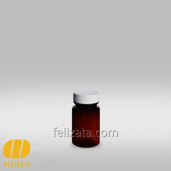 ПЭТ бутылка янтарная 60 мл
