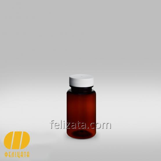 ПЭТ бутылка янтарная 75 мл