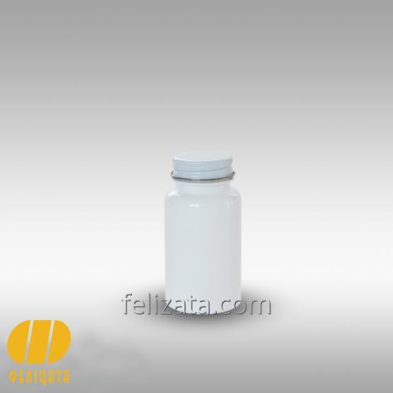 ПЭТ бутылка белая 75 мл с алюминиевой крышкой