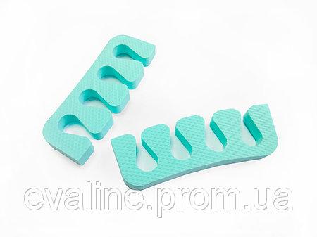 Купить Растопырки для педикюра - разделители пальцев ног, Eva-Line 200 шт. Бирюзовый