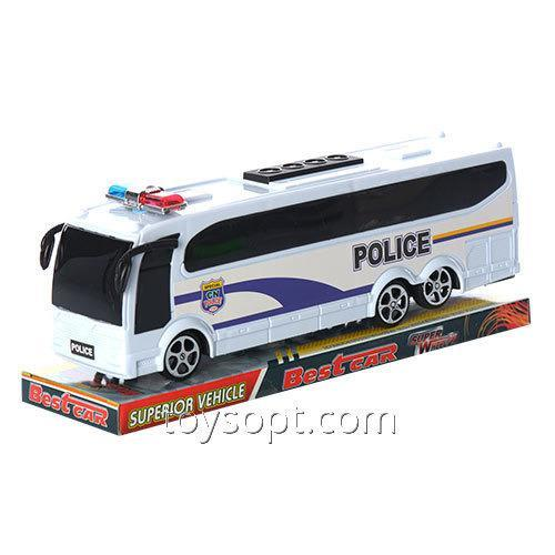 Автобус 818-5 инерционный, Полиция, блист., 26-10-7,5 см