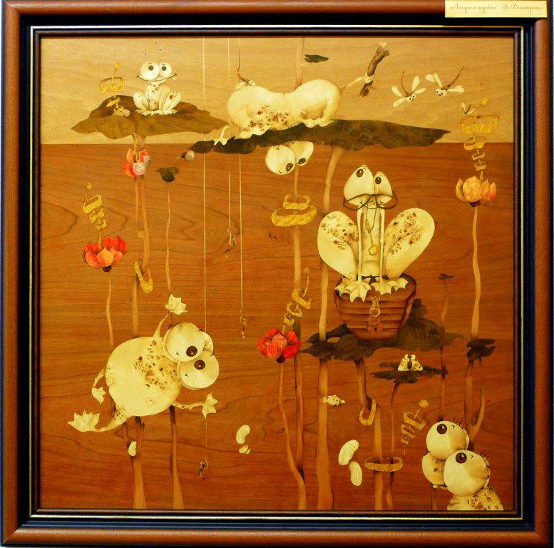 Картина маркетри - Царевна лягушка