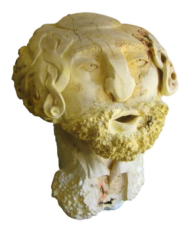 Hölzerne Skulptur-Rabbi