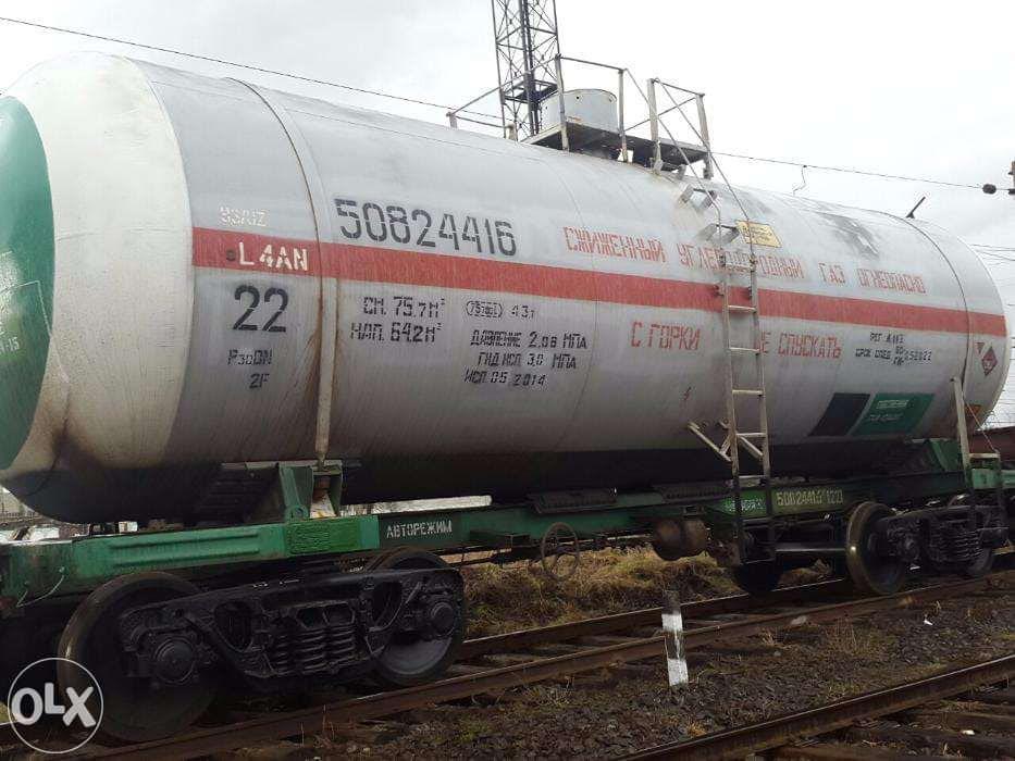 Железнодорожные цистерны для сжиженного газа 75 м3